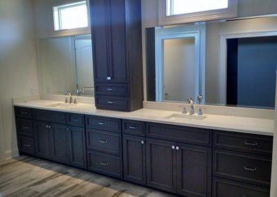 double bowl dark vanity