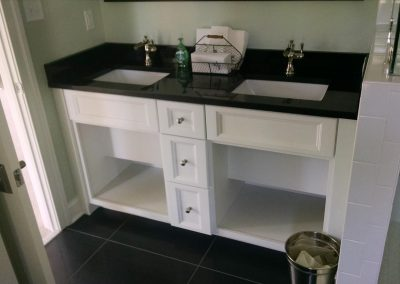 double bowl white bath vanity