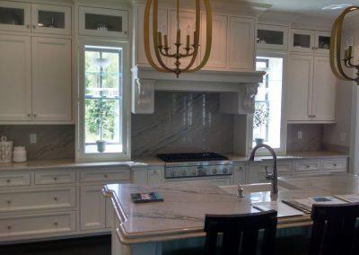 white custom kitchen oven wall